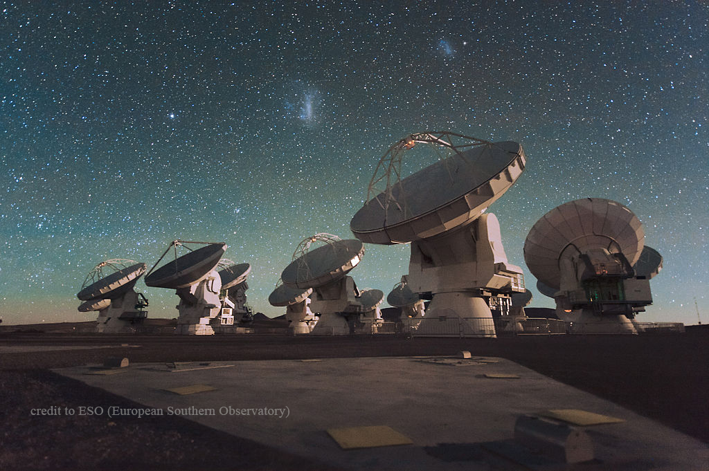 Telescope field in Chile