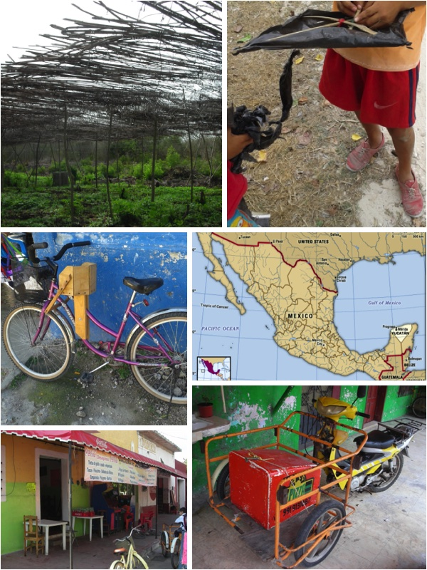 Collage of photos of living in Central America